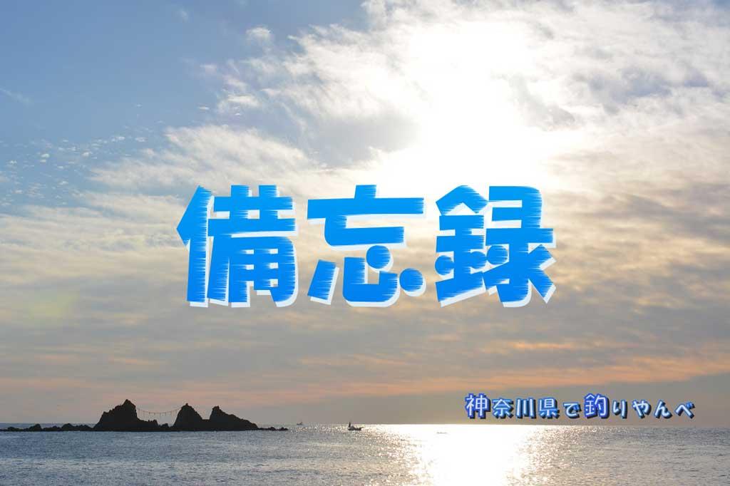 アイキャッチ, 備忘録, 神奈川県で釣りやんべ