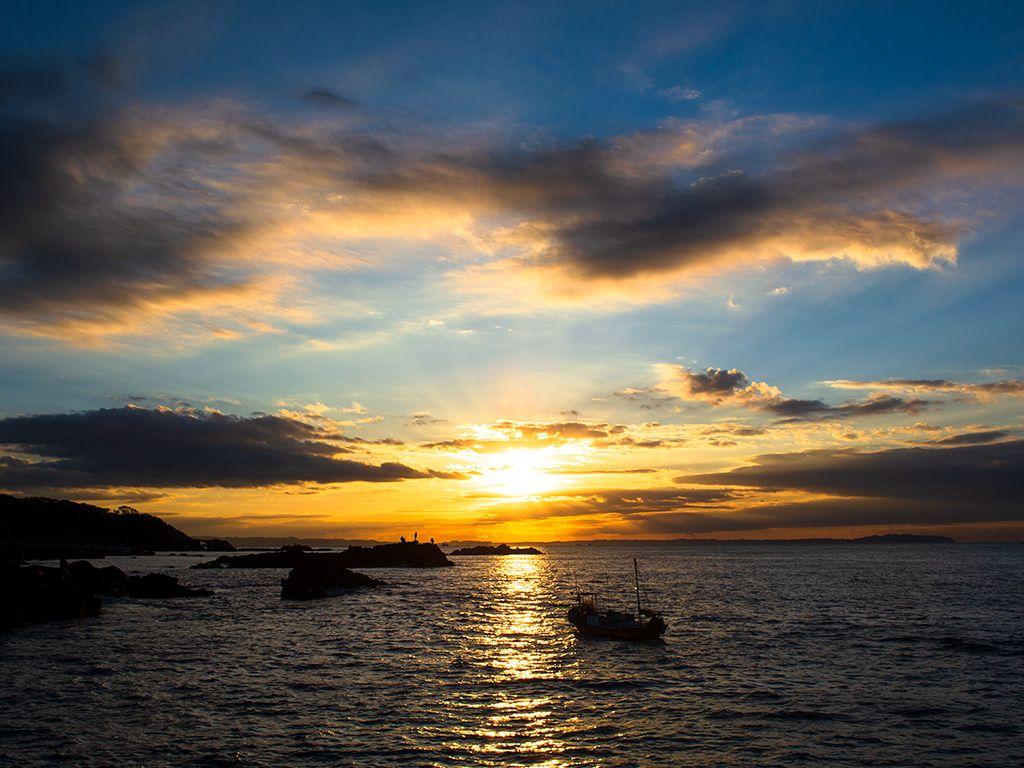 三浦半島, 城ヶ島, 四畳半, 磯釣り, 日の出